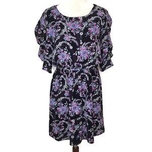 As U Wish Floral Flutter Sleeve Dress Size XL